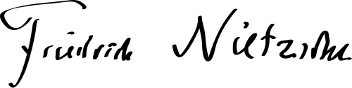 The signature of Nietzsche