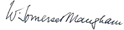 Signature of W. Somerset Maugham