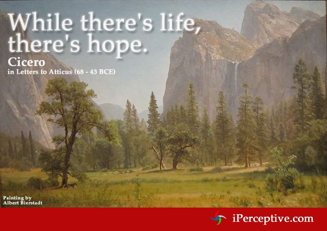 Cicero Quote on life and hope