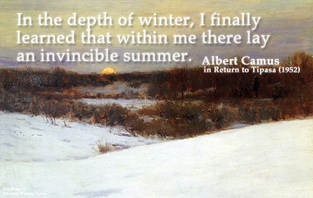 In the depth of winter... Quote by Albert Camus