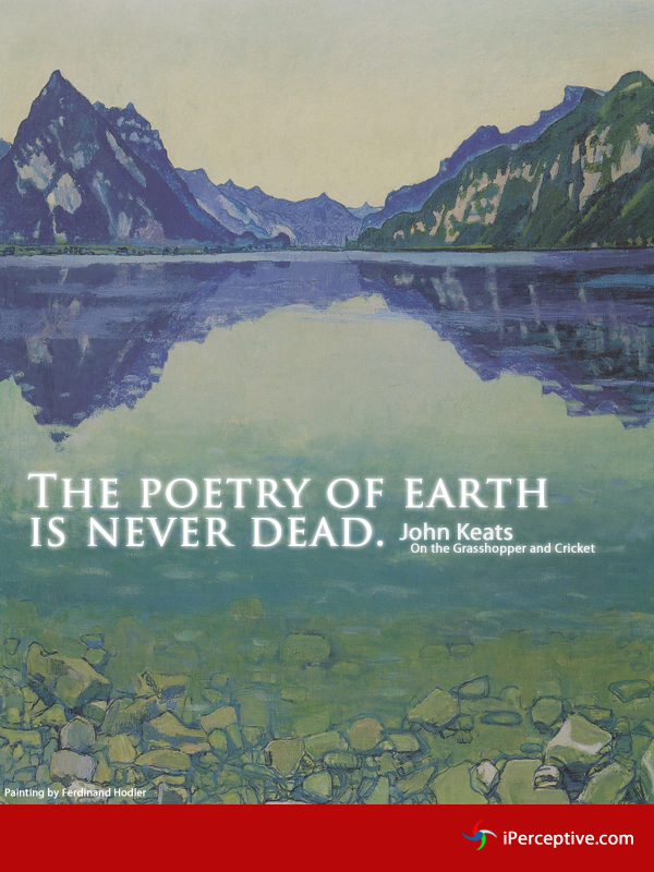 The poetry of the earth... Quote by John Keats