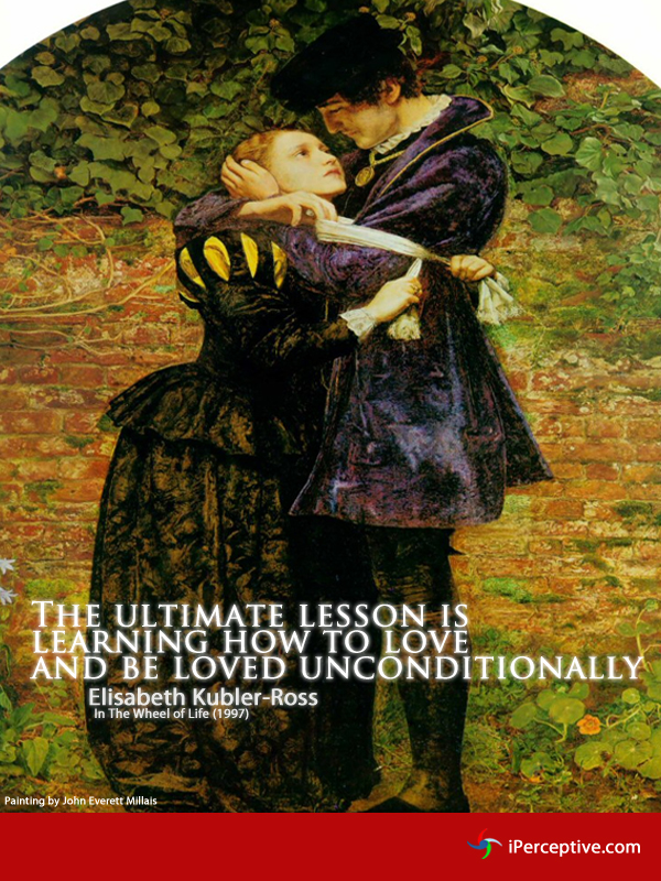 The ultimate lesson is learning how to... Quote by Elisabeth Kubler-Ross