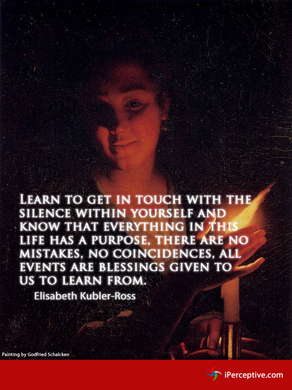 Learn to get in touch with the silence... Quote by Elisabeth Kubler-Ross