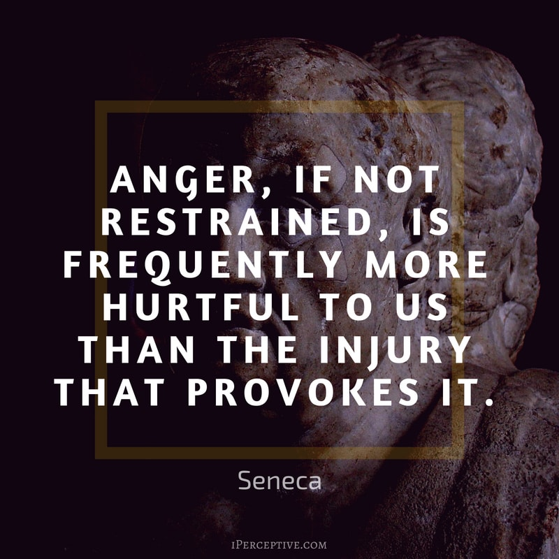 Anger Quote by Seneca: Anger, if not restrained, is frequently more hurtful to us than the injury that provokes it.