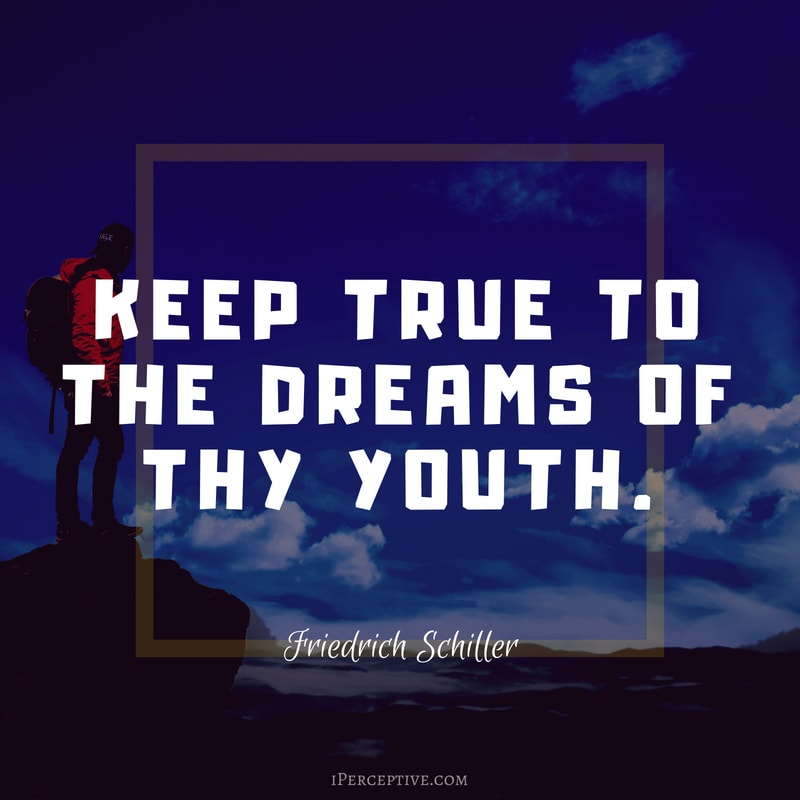 Dreams Quote (Friedrich Schiller): Keep true to the dreams of thy youth.
