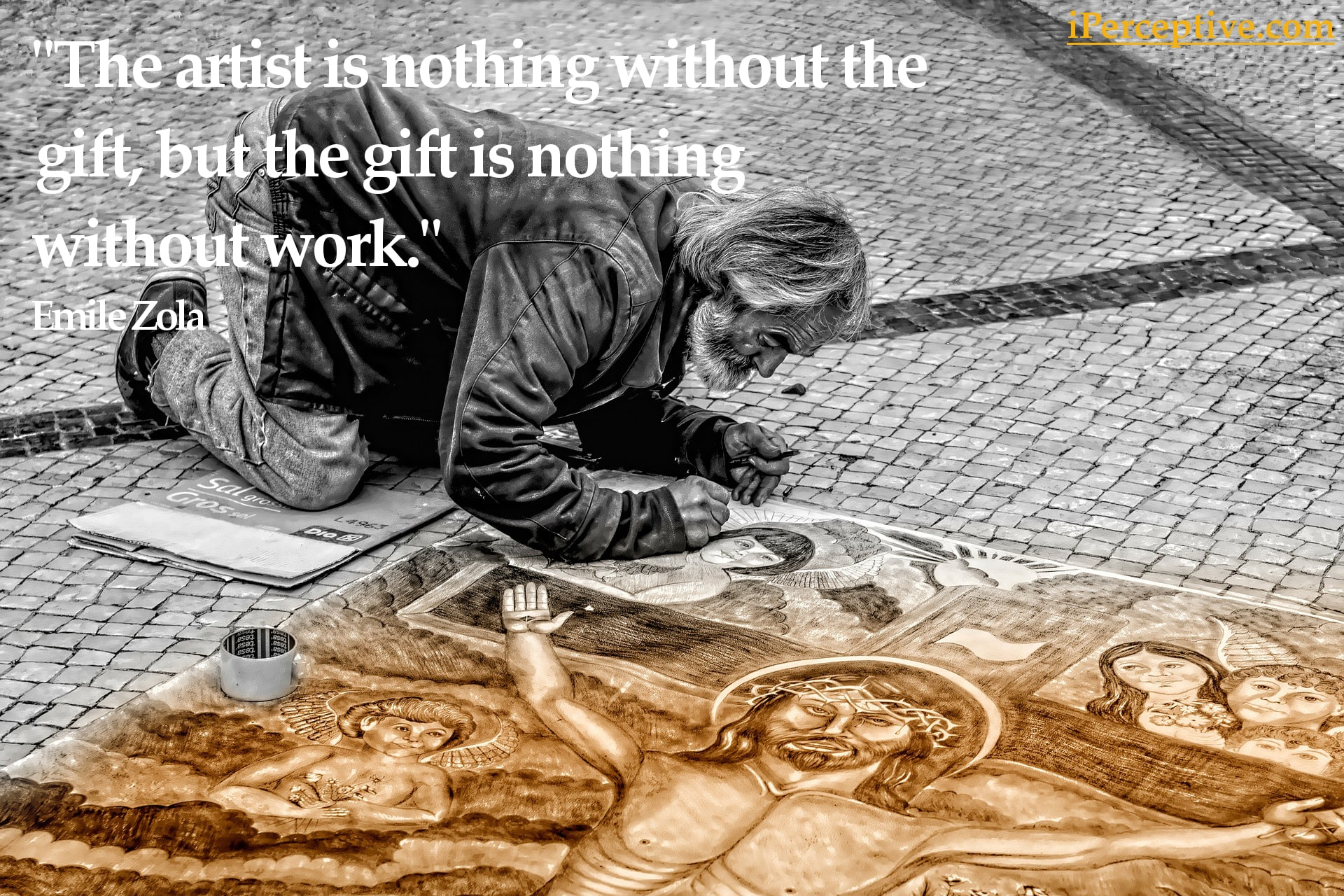 Emile Zola Quote: The artist is nothing without the gift...