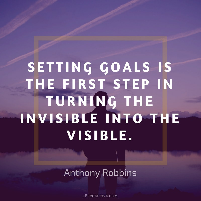 Goals Quote by Anthony Robbins: Setting goals is the first step in turning the invisible into the visible.