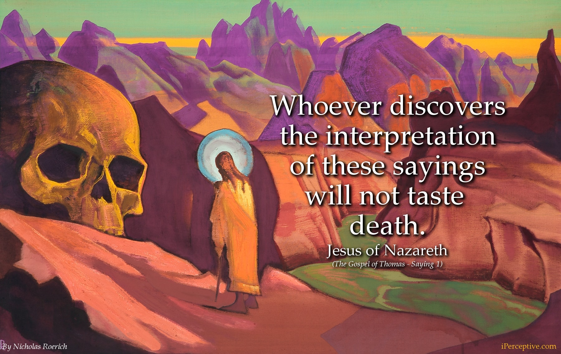 Jesus Mystic Quote: Whoever discovers the interpretation of these...