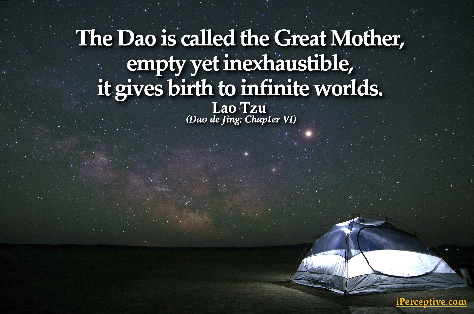 Lao Tzu Quote - The dao is called the great mother...