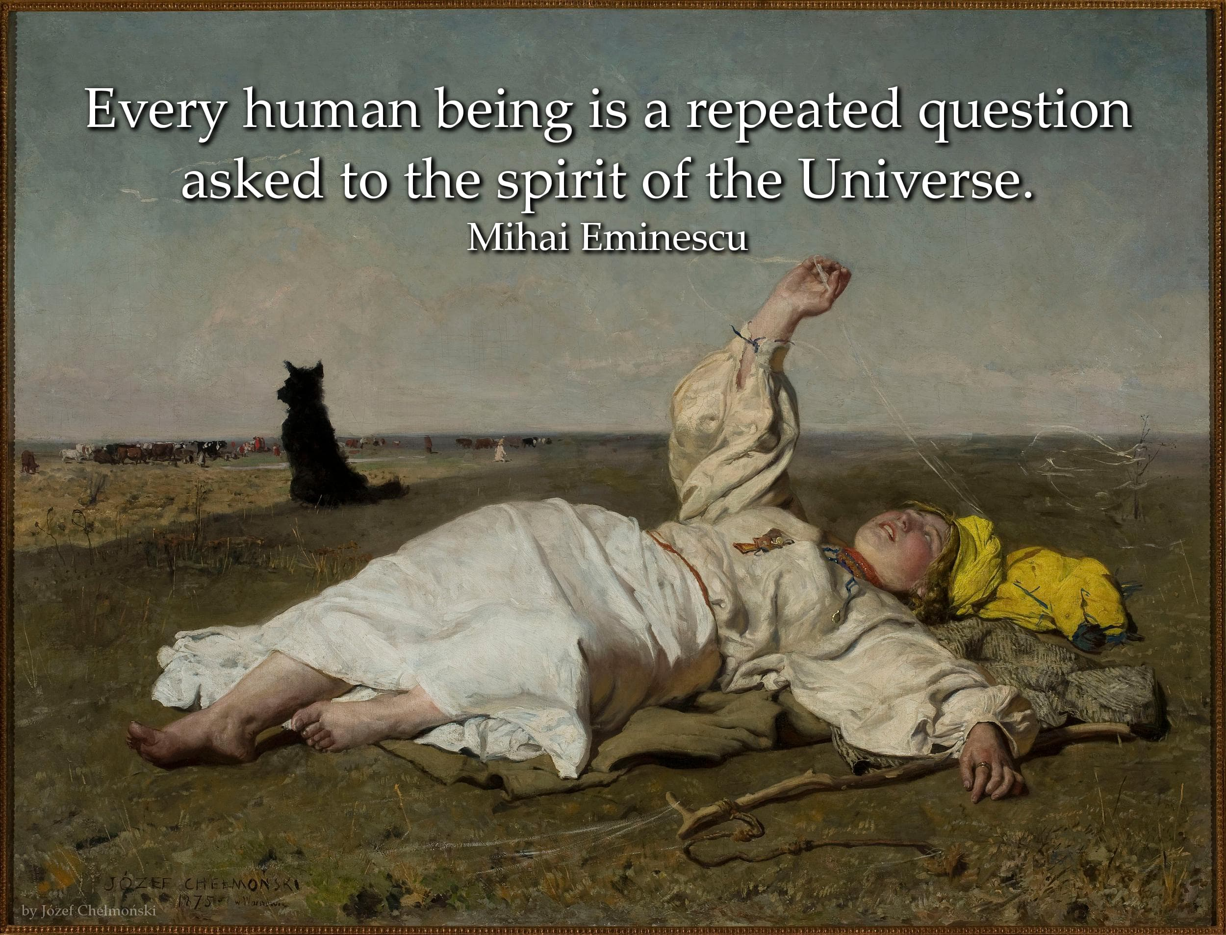 Mihai Eminescu Quote: Every human being is a repeated question asked to the...