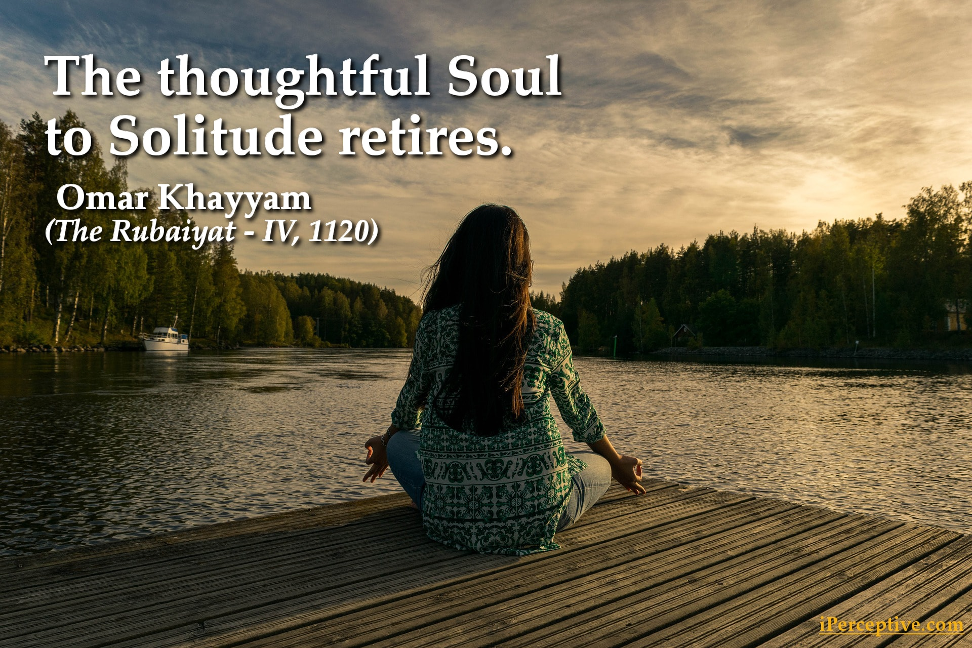 Omar Khayyam Quote: The thoughtful soul to solitude retires...