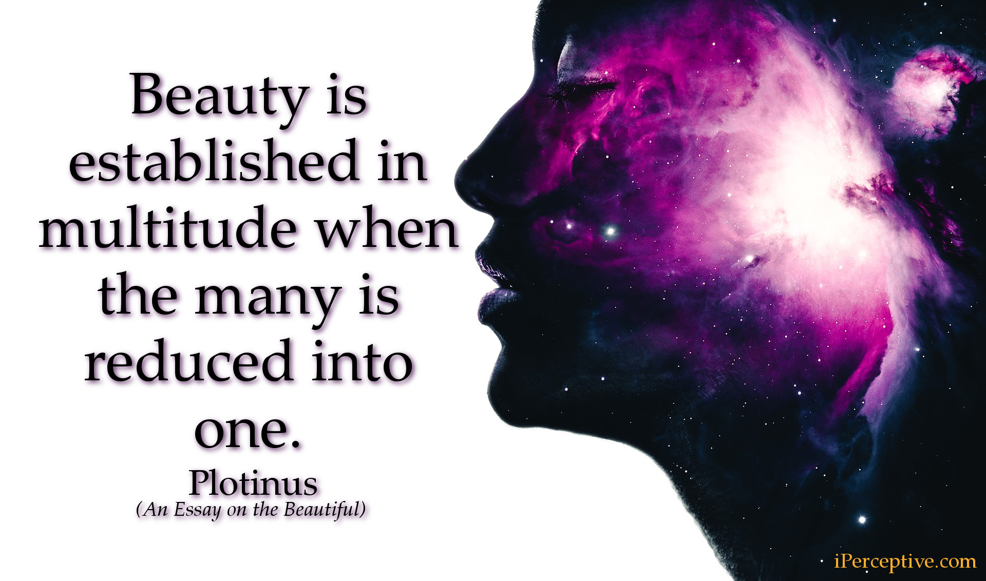 Plotinus Quote: Beauty is established in multitude when the many...