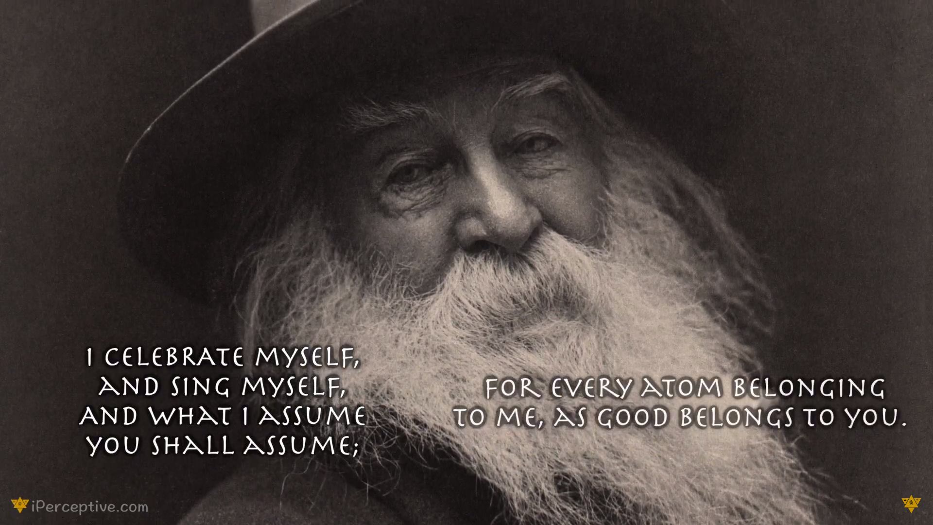 Walt Whitman Quote - I celebrate myself, and sing myself...