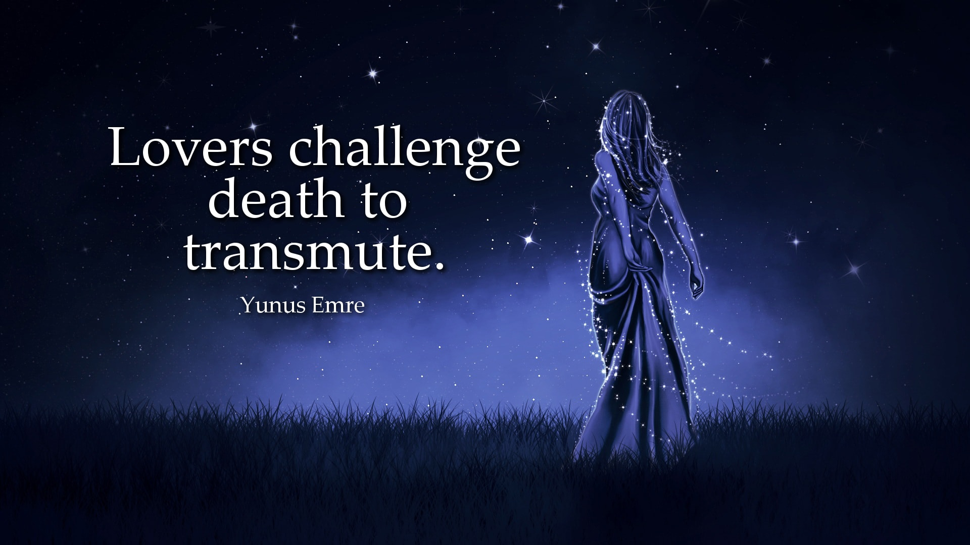 Yunus Emre Quote: Lovers challenge death to transmute.